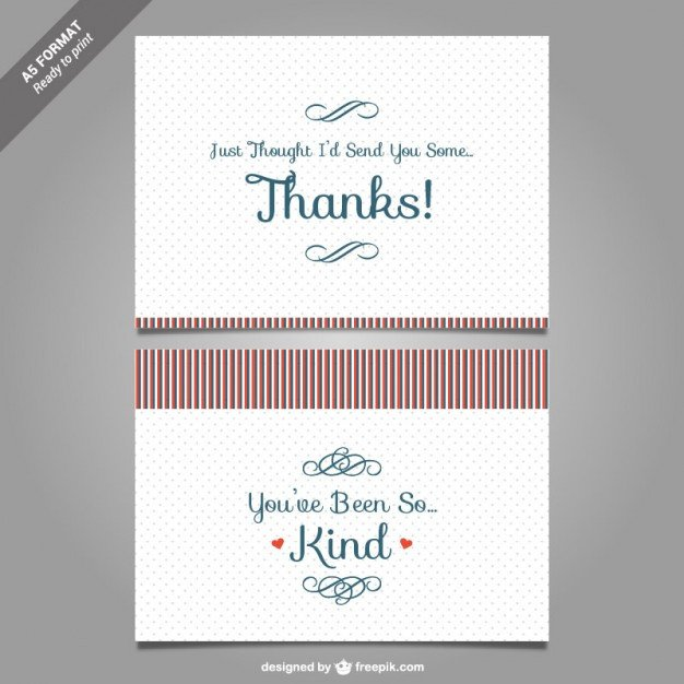 Free Thank You Card Template Thank You Card Template Vector Vector