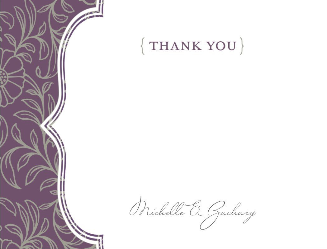 Free Thank You Card Template Thank You Template