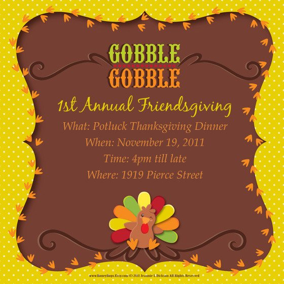 Free Thanksgiving Invitation Templates 1st Annual Friendsgiving Line Invitations & Cards by