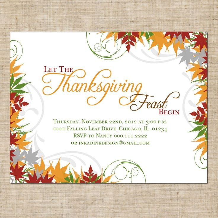 Free Thanksgiving Invitation Templates 86 Best Images About November Thanksgiving On Pinterest