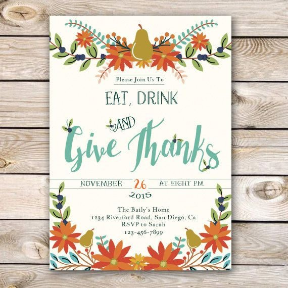 Free Thanksgiving Invitation Templates Best 25 Thanksgiving Invitation Ideas On Pinterest