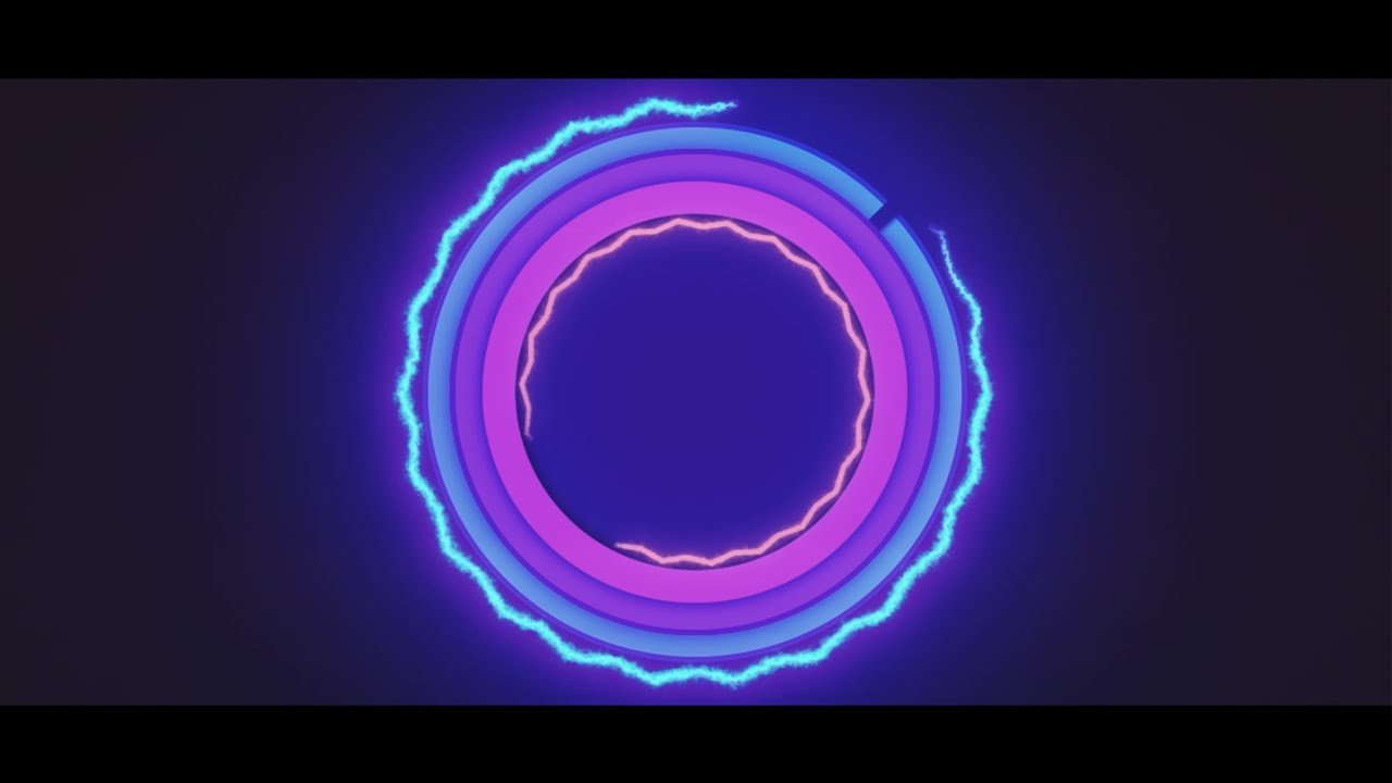 Free Video Intro Templates Neon Free 2d Intro Template