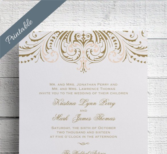Free Vintage Wedding Invitation Templates 24 Vintage Wedding Invitation Templates Psd Ai