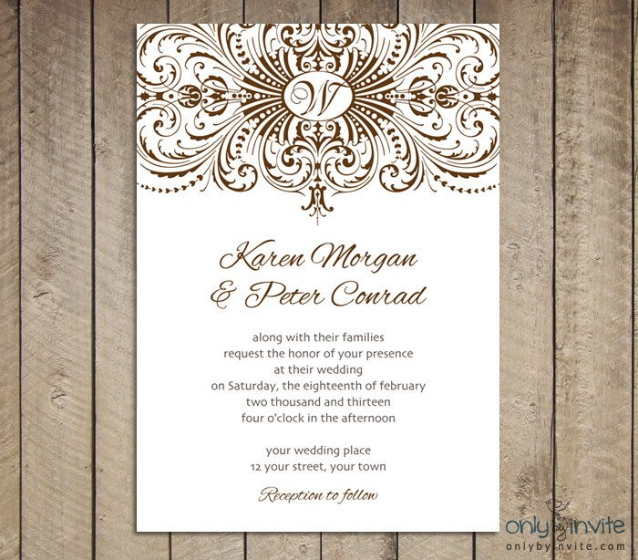 Free Vintage Wedding Invitation Templates Free Vintage Clip Art Images