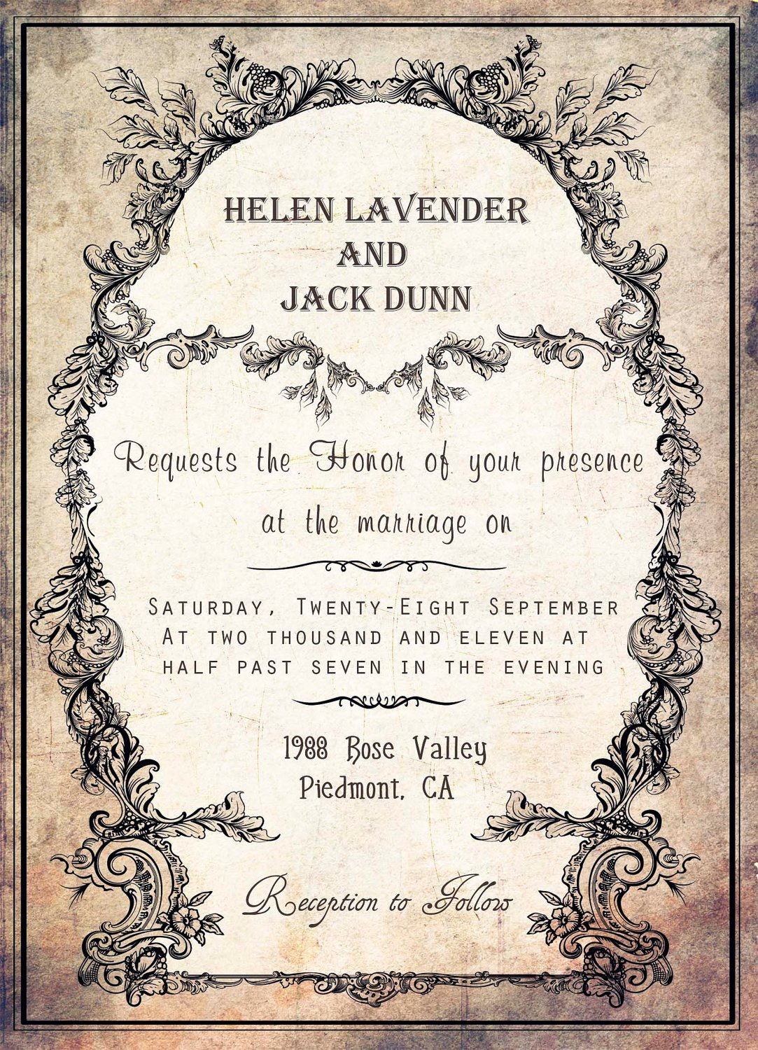 Free Vintage Wedding Invitation Templates Silver Wedding Invitations Free Wedding Invitation Templates