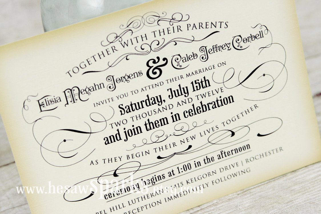 Free Vintage Wedding Invitation Templates Vintage Wedding Invitation Printable Diy the Timeless