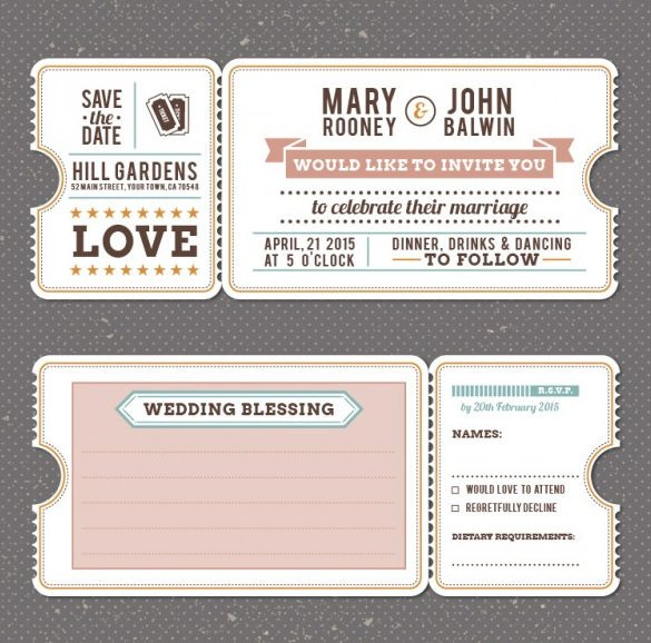 Free Vintage Wedding Invitation Templates Wedding Invitation Template 71 Free Printable Word Pdf