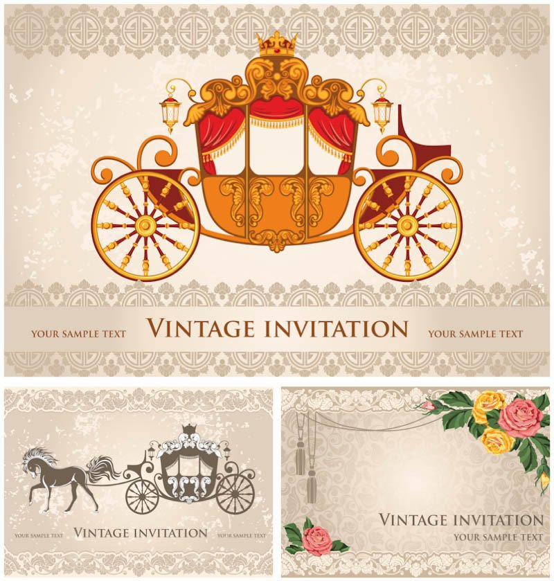 Free Vintage Wedding Invitation Templates Wedding