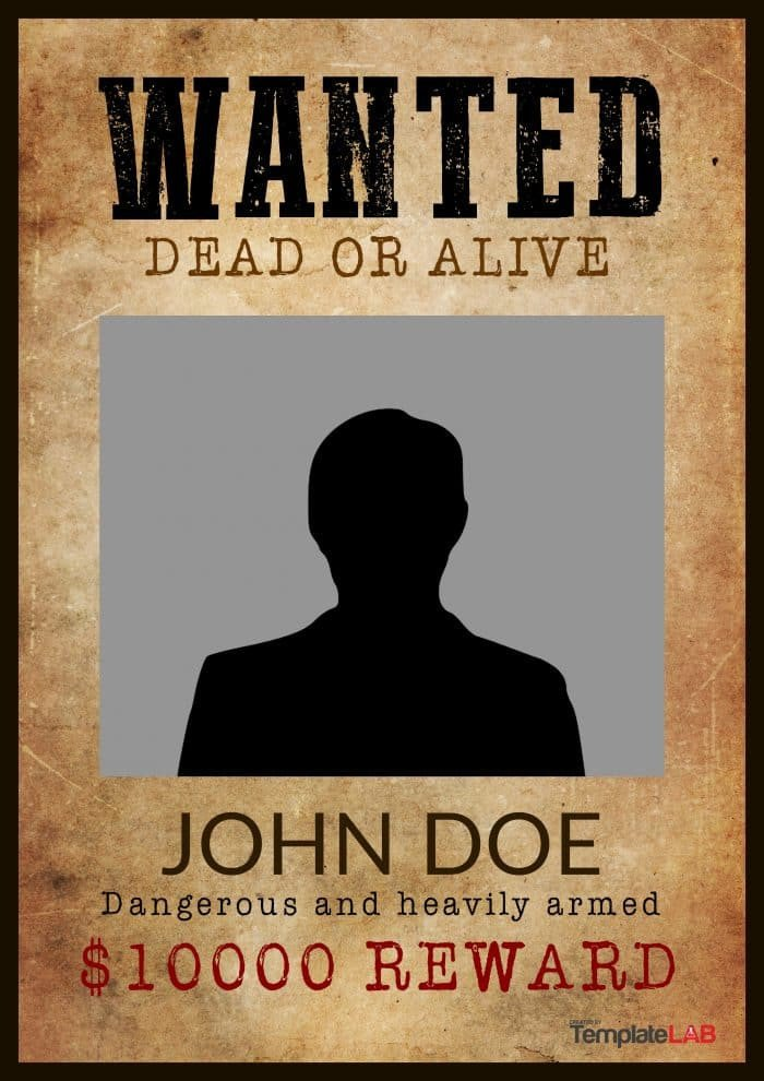 Free Wanted Poster Template Printable 29 Free Wanted Poster Templates Fbi and Old West