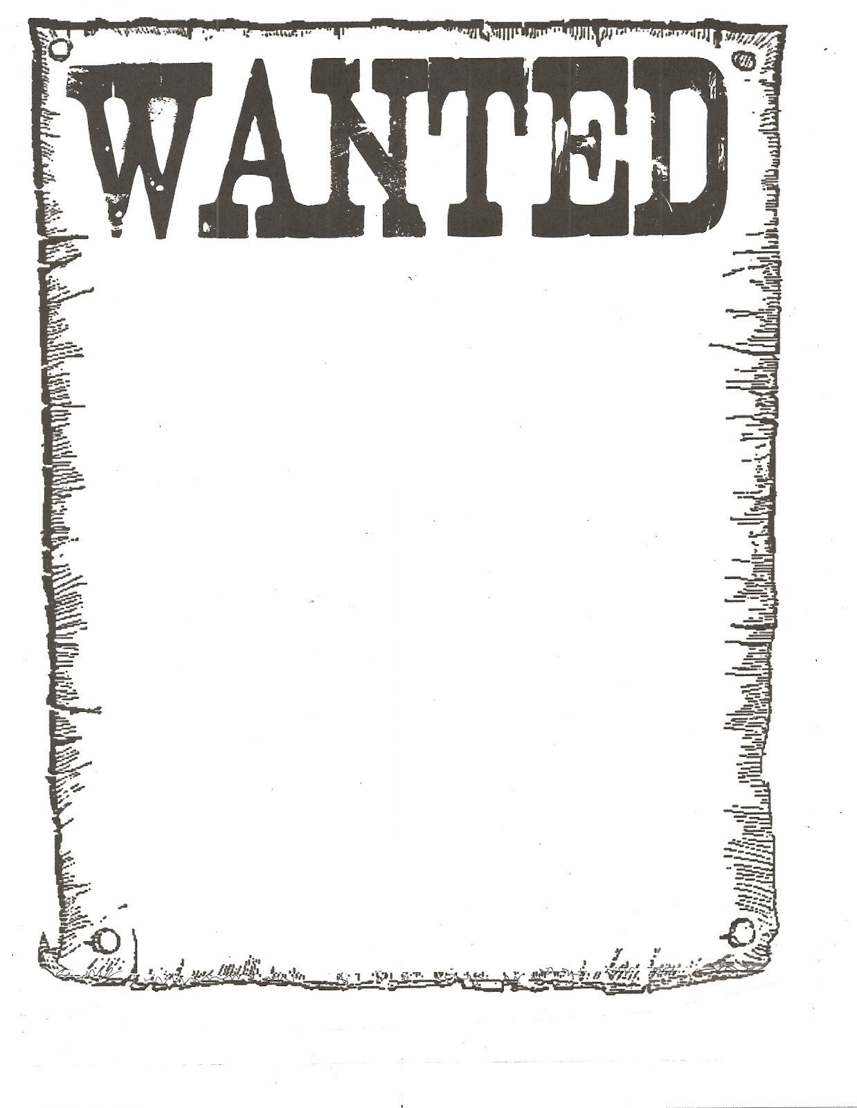 Free Wanted Poster Template Printable Wanted Poster Classroom Freebies