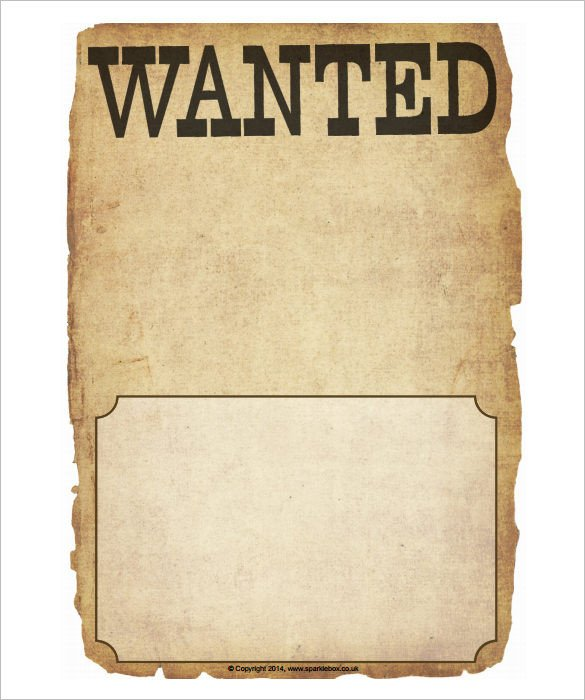 Free Wanted Poster Template Printable Wanted Poster Template 34 Free Printable Word Psd