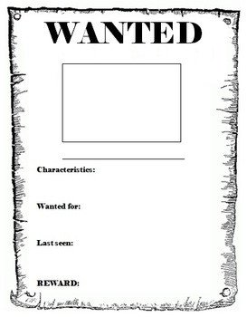 Free Wanted Poster Template Printable Wanted Poster Template by Miss Db
