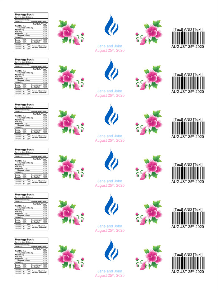 Free Water Bottle Label Template Water Bottle Label Template Make Personalized Bottle Labels