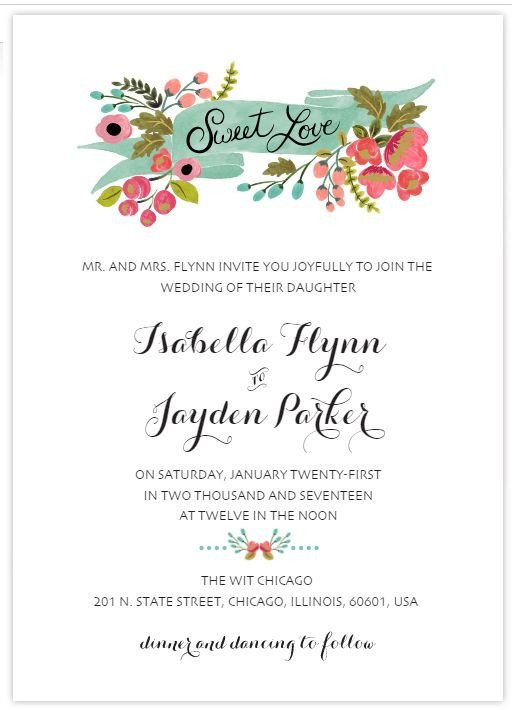Free Wedding Invitation Template 529 Free Wedding Invitation Templates You Can Customize