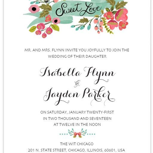 Free Wedding Invitation Template 550 Free Wedding Invitation Templates You Can Customize