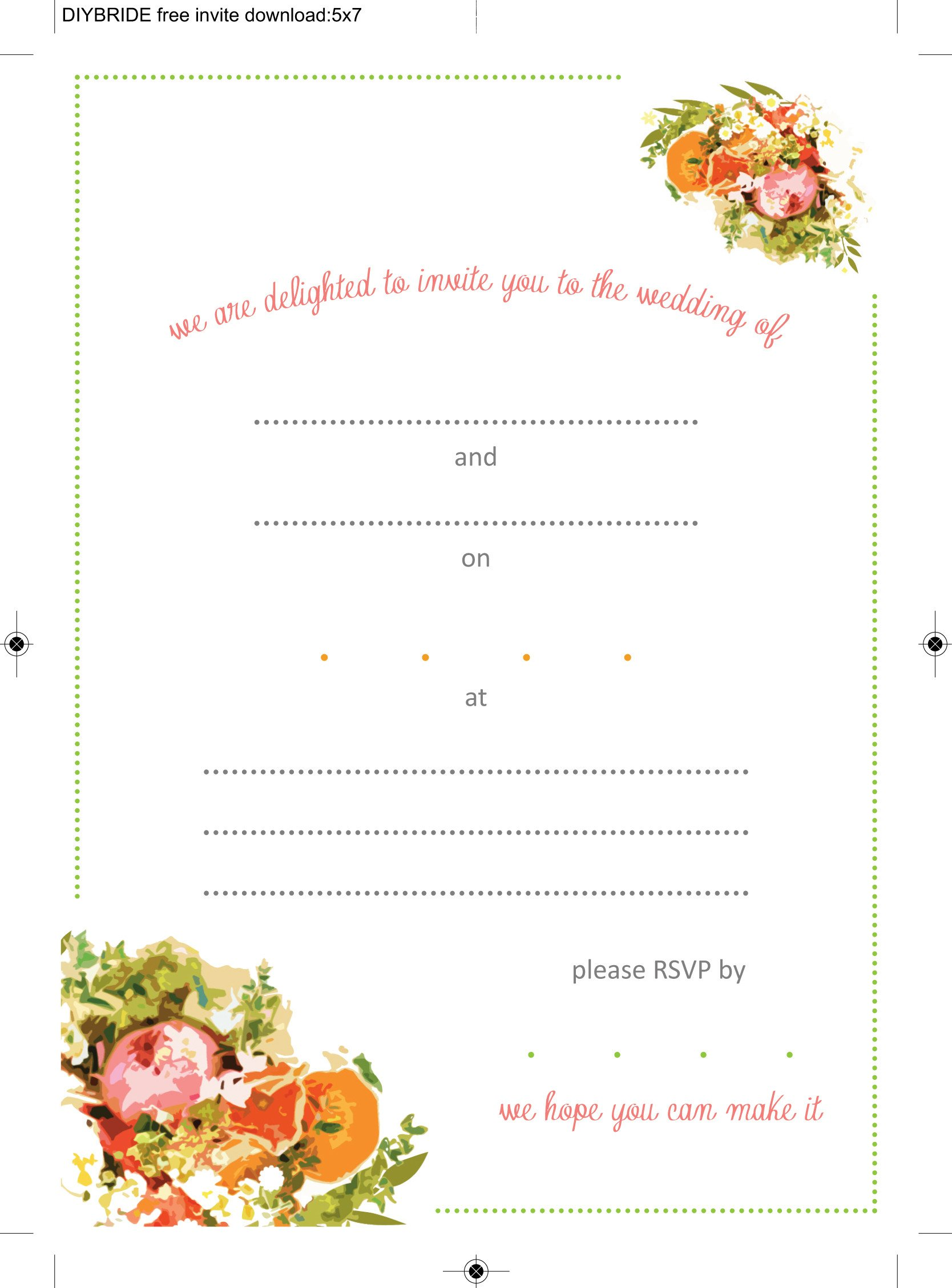 Free Wedding Invitation Template Wedding Invitation Templates that are Cute and Easy to