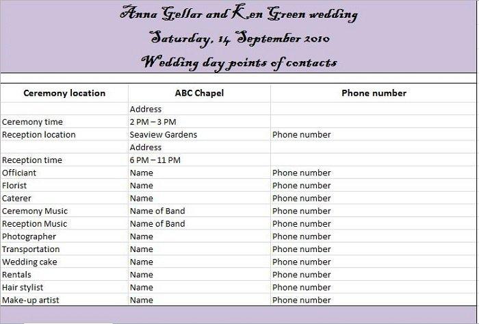 Free Wedding Itinerary Template 37 Free Beautiful Wedding Guest List & Itinerary Templates