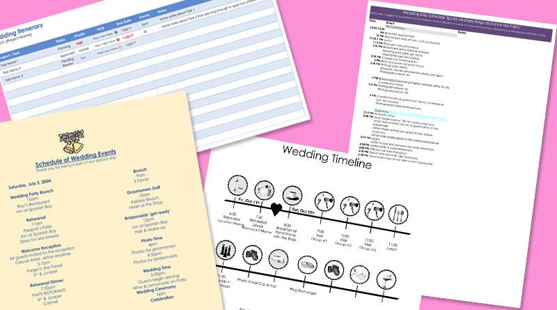 Free Wedding Itinerary Template 8 Free Wedding Itinerary Templates and Schedule Templates