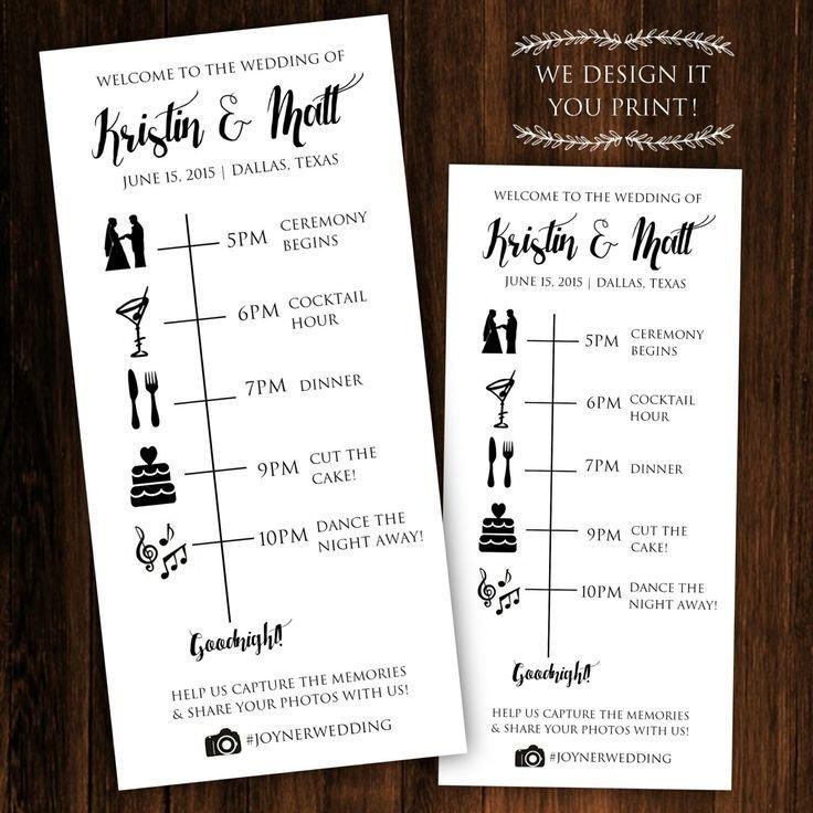 Free Wedding Itinerary Template Pin by Amanda Seibert On the Wedddding
