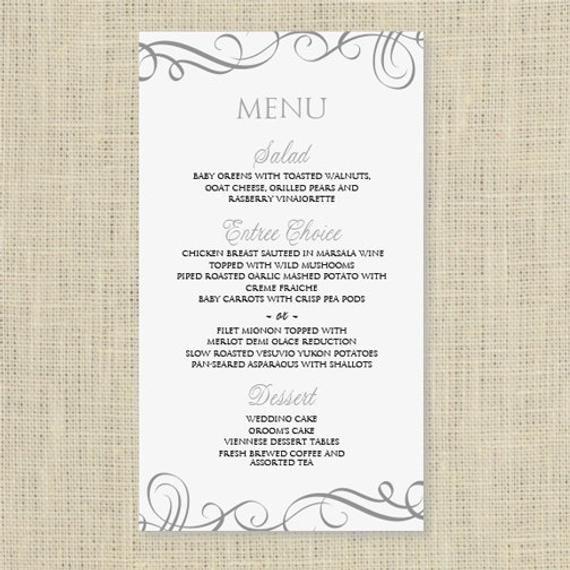 Free Wedding Menu Templates Wedding Menu Card Template Download Instantly by