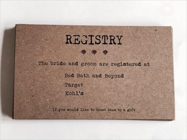 Free Wedding Registry Card Template 63 Wedding Card Templates