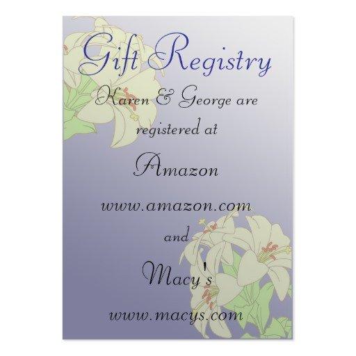 Free Wedding Registry Card Template Custom Wedding Registry Cards Business Card Templates