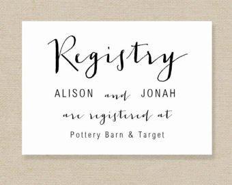 Free Wedding Registry Card Template Gift Registry Card