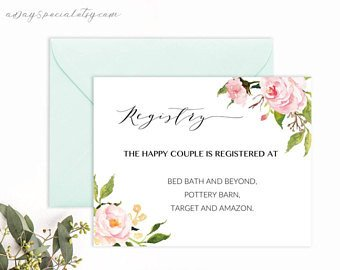 Free Wedding Registry Card Template Printable Wedding Registry Card Template Printable Rustic