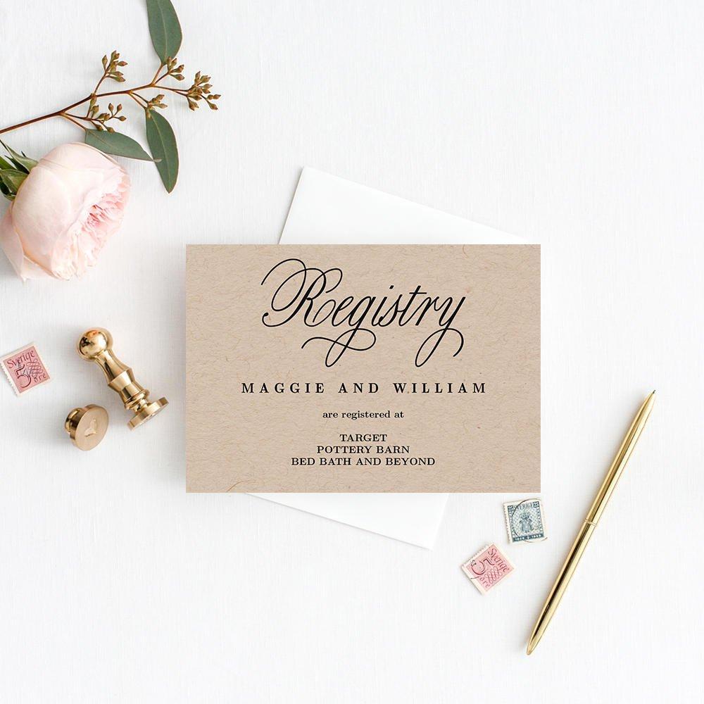 Free Wedding Registry Card Template Registry Cards Editable Template Printable Pdf Elegant