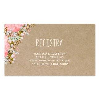 Free Wedding Registry Card Template Rustic Flowers