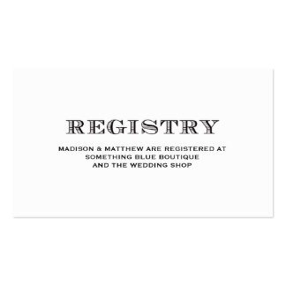 Free Wedding Registry Card Template Wedding Business Cards & Templates