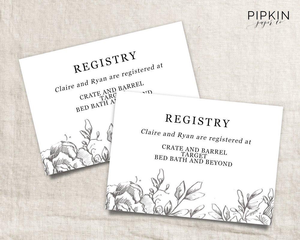 Free Wedding Registry Card Template Wedding Registry Card Wedding Info Card Download Registry