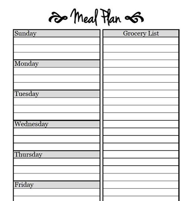 Free Weekly Meal Planner Template Printable Meal Planning Templates to Simplify Your Life