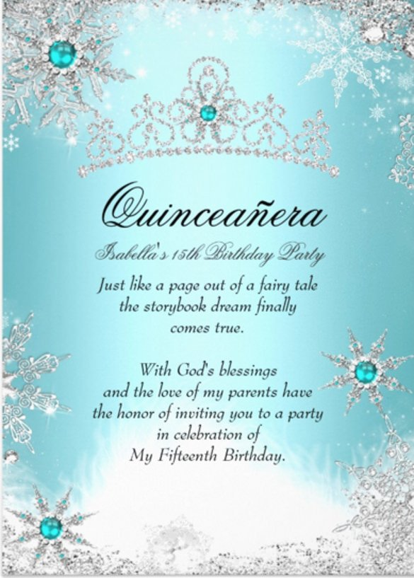 Free Winter Wonderland Invitations Templates 28 Quinceanera Invitations Templates Psd Vector Eps