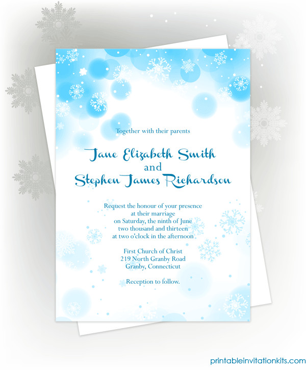 Free Winter Wonderland Invitations Templates Free Pdf Download Snowflakes Winter Invitation for Winter