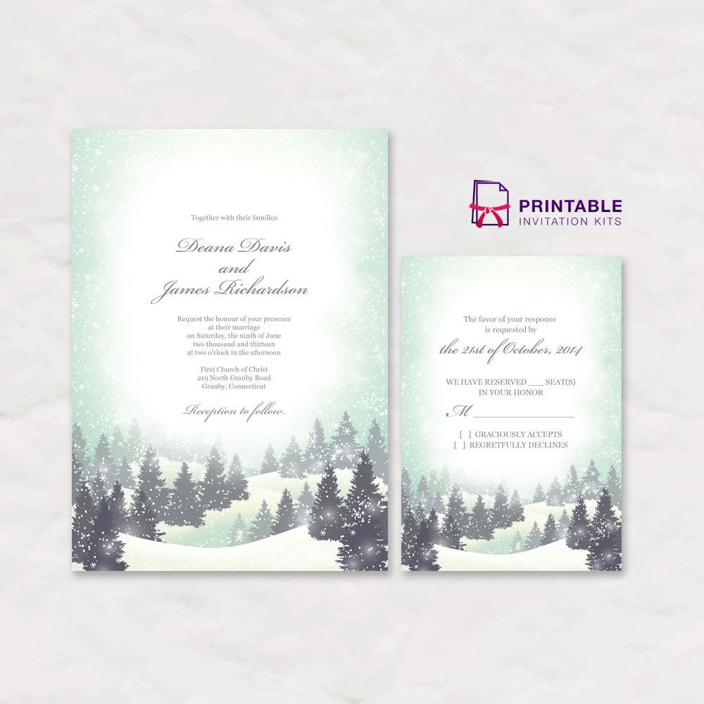 Free Winter Wonderland Invitations Templates Free Pdf Download Winter Wonderland Wedding Invitation
