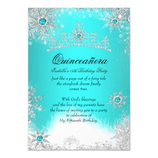 Free Winter Wonderland Invitations Templates Quinceañera Invitations‎ & Party Invites Easy to Use