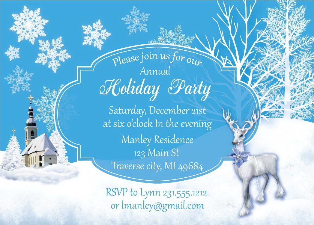 Free Winter Wonderland Invitations Templates Winter Wonderland Christmas Invitation by Announceitfavors