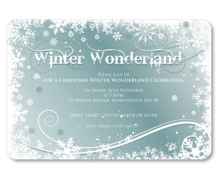 Free Winter Wonderland Invitations Templates Winter Wonderland Invitation Christmas Party Invitations