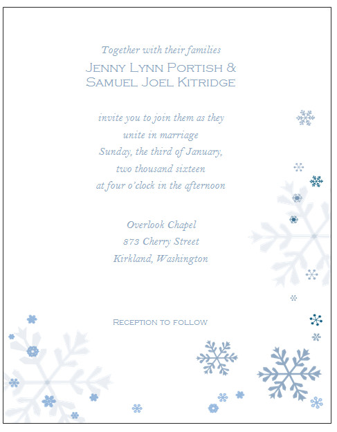 Free Winter Wonderland Invitations Templates Winter Wonderland Invitations Templates