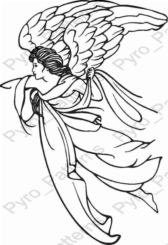 Free Woodburning Patterns Stencils Pyrography Wood Burning Angel Pattern Printable Stencil