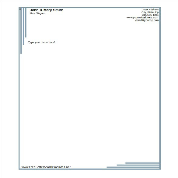 Free Word Letterhead Templates 32 Free Download Letterhead Templates In Microsoft Word
