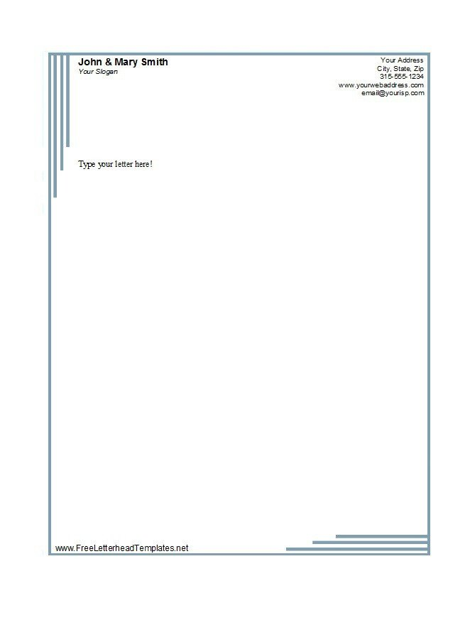 Free Word Letterhead Templates 45 Free Letterhead Templates & Examples Pany