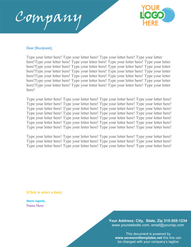 Free Word Letterhead Templates 50 Free Letterhead Templates for Word Elegant Designs