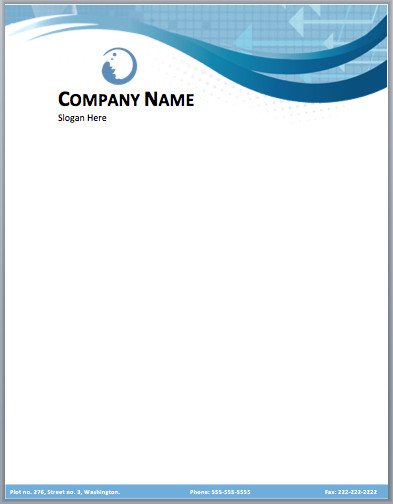 Free Word Letterhead Templates Business Pany Letterhead Template Free Small Medium