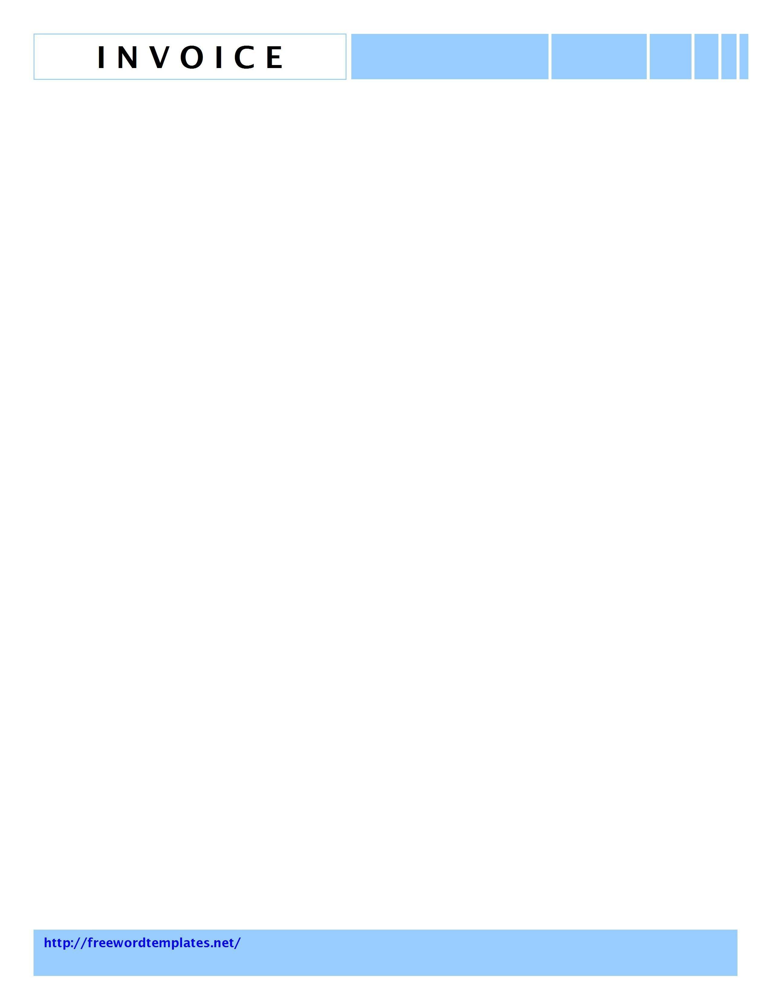 Free Word Letterhead Templates Invoice Letterhead