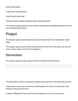 Freelance Graphic Design Contract Template Document & Contract Templates [200 Free Examples] Edit