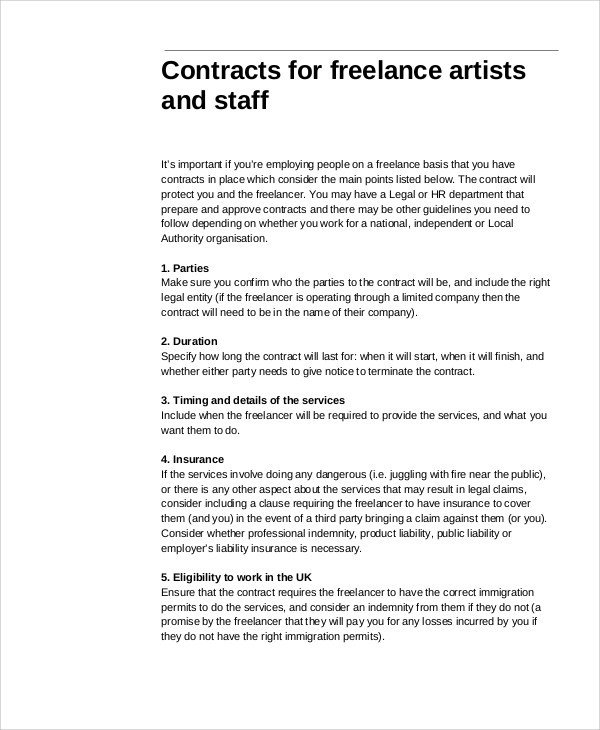 Freelance Graphic Design Contract Template Freelance Graphic Design Contract Template Pdf