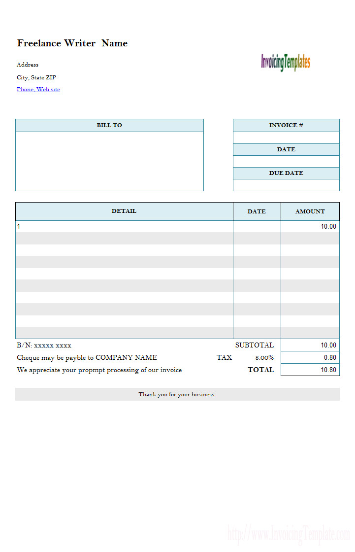 Freelance Hourly Invoice Template 20 Microsoft Fice Invoice Templates Free Download