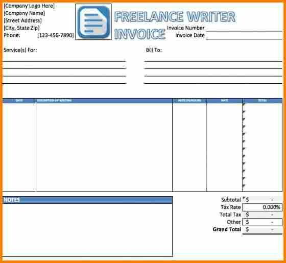 Freelance Hourly Invoice Template 6 Freelance Bill format